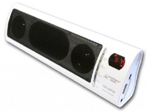 mp3 stereo box lautsprecher musik von usb stick sd karte radio akku weiss ebay. Black Bedroom Furniture Sets. Home Design Ideas